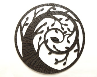 Original OOAK Spiral Tree Metal Wall Art - Free USA Shipping