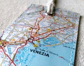 Venice Italy luggage tag made with original map