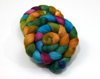 Superfine Merino Wool Roving (Combed Top) - Hand Dyed Roving for Spinning or Felting