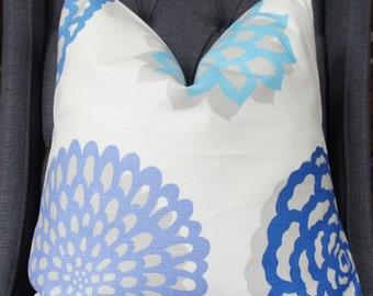 Blue Flora, Blue Pillow, Handmade Pillow, Pillow Cover, Decorative Pillow, Throw Pillow, Toss Pillow, Sofa Pillow,Home Furnishing,Home Decor