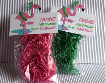 Flamingo Party Favor Bags - Set of 8