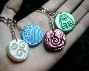 Avatar Four-Nation Bender Keychain Set (4)