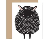Black Sheep Card, Baby Shower Card, Black Lamb Card, Baby Card, Congratulations Card, Easter Card, Sheep Greeting Card