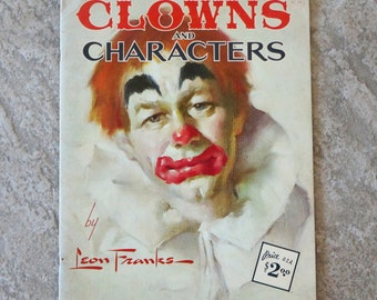 Vintage Drawing Art Book Clowns and Characters Leon Franks How to Draw and Paint