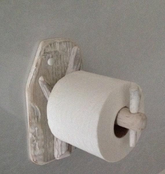 Rustic Driftwood Toilet Roll Holder Art Sculpture