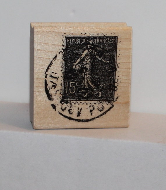 French Post Mark Postage Rubber Stamp