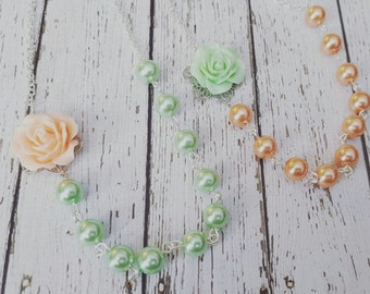 The Sophia Rose Flowergirl Necklace...Choose your color options.  Purchase 3 or more for 10% OFF