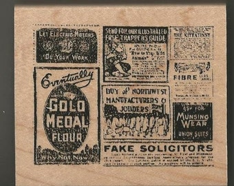 Vintage Advertising Rubber Stamp