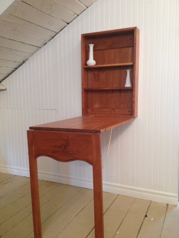 Drop down desk or table small space living for Small drop down desk