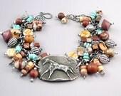 Horse Bracelet, Southwest Bracelet, Horse Jewelry, Primitive Horse, Inviciti Jewelry, Charm Bracelet, Horse Lover Gift, Equine Gift