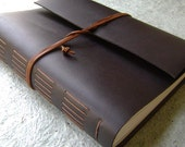 "8.5""x 11"" leather journal, 408 pages, rustic brown journal, handmade leather journal  (2178)"