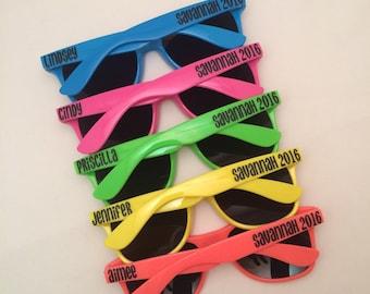 NEON Sunglasses, Bachelorette Sunglasses, Bachelorette Party Gift, Personalized Sunglasses, Bachelorette Party, Bachelorette Party Favors