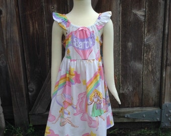 Classic Barbie Childrens Dress Size 5-6 Recycled