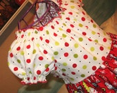 Girls Christmas Dress Red Snowman S'Noel Peasant Dress Ready to ship size 3