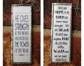 He Gives Strength to the Weary - Isaiah 40:29 - Those who Hope int he Lord will renew their strength - Isaiah 40 Scripture Art Pendant