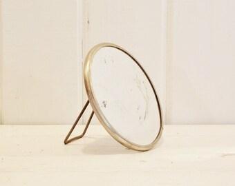 Vintage Shaving Mirror Standing Magnifying Mirror Hanging Round Mirror