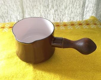 Vintage Dansk Brown Enamel Butter Warmer