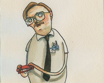 Milton from Office Space  -  Original character sketch