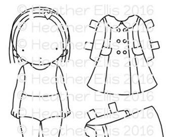 Pure Innocence 061 - Digi stamp - Instant Download Digital Digi Stamp - printable