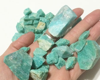 Amazonite, Rough Gemstone, Natural Crystal, Raw Mineral, Jewelry Supplies, Wire Wrapping