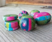 Bright Bohemian Polymer Clay Beads