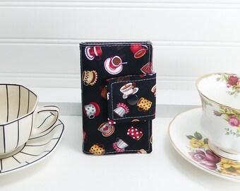 Tea wallet - Teabag case for travel - black tea wallet by Purple Grace made in Maine - travel tea wallet