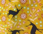 Girly Deer - Infant or Toddler Bib - REVERSIBLE plus ADJUSTABLE snaps