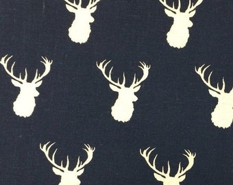 Sale - Navy Deer - 12x12 Sweet Bobbins Wet Bag - SEAM SEALED - Snap Strap