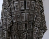 oversize brown geometric sweater jumper XXL slouchy knit men boho normcore grunge Jantzen big and tall