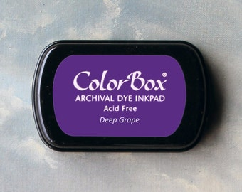 Purple Stamp Pad (Deep Grape) // Archival ink // ColorBox