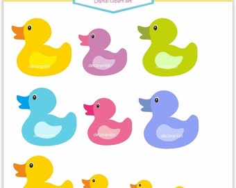 ON SALE Clip art Duck bath, cute duck bath toy, PNG File , Instant Download