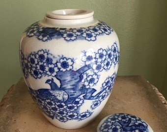 Asian covered ginger jar