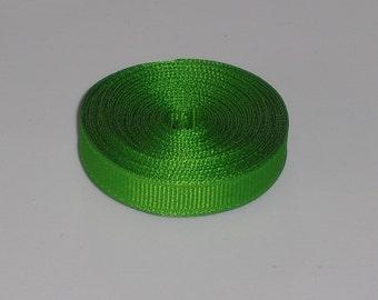 Apple Green 3/8 inch Solid Grosgrain Ribbon 10 yards