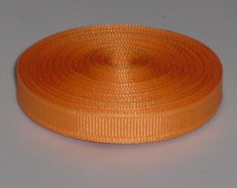 Creamsicle 3/8 inch Solid Grosgrain Ribbon 10 yards