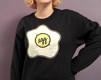 egg - screenprinted sweatshirt