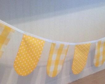 Yellow Polka Dot and Gingham Garland
