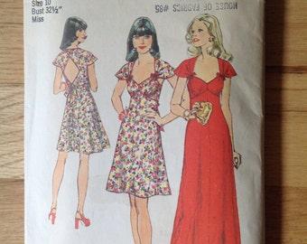 Vintage Simplicity 6389 Misses' Summer Dress