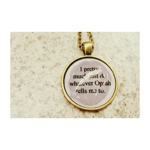 oprah liz lemon quote necklace 30 rock quote necklace