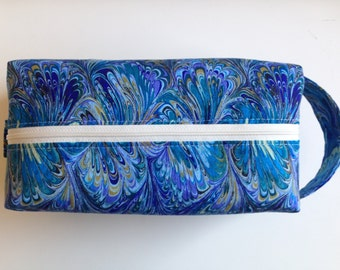 Makeup Bag Kid Toiletry Travel Bag Hygiene Bag - Lulu Blue