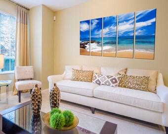Canvas Prints - Beach Canvas Art - Beach Photo Prints - Beach Wall Art - Ocean Wave Canvas Print - Framed Ready to Hang - Beach Home Decor