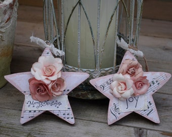 Christmas Star Ornaments Handcrafted