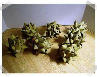 Artichokes/ Fake/ Set of 3 OR Set of 7/Craft Supplies*
