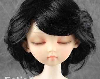 Fatiao - New Dollfie MSD Kaye Wiggs 1/4 BJD Size 7-8 inch - Black Dolls Wig