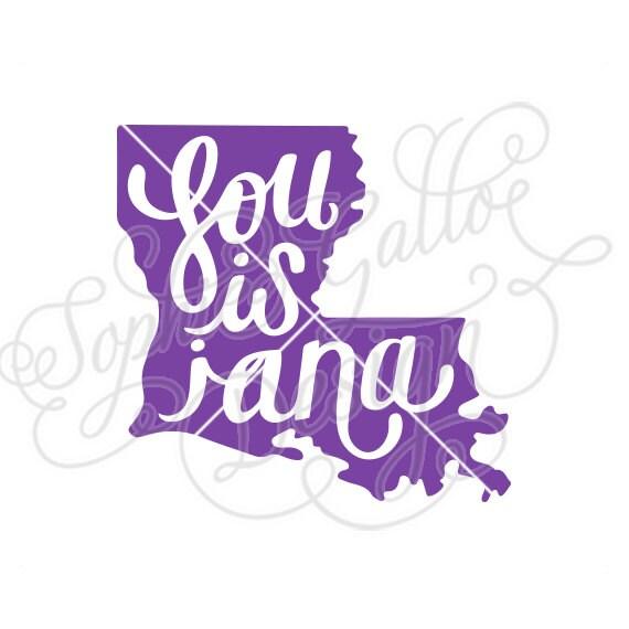 Louisiana State Script SVG DXF & PNG Digital Download File
