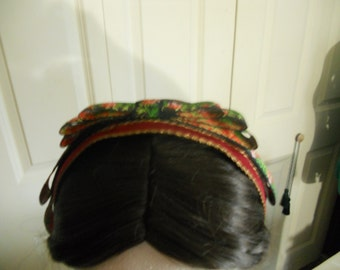Civil War Ribbon hairnet, light brown, Roses Ribbon, New