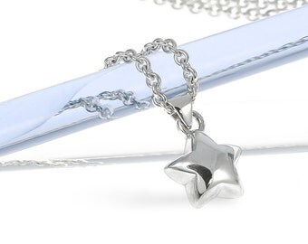 Silver Small Star Necklace | Star Necklace | Stargazing