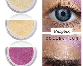 Eyeshadow Kit Palette,  Kawaii Style, Gold Purple, Eyeshadow, Eye Shadow, PERPLEX, Natural Mineral Eye Colors, Vegan Makeup, Eye Color