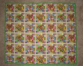 100% Cotton Baby Girl Multi color Crib Handmade Quilt 35 x 49 inches