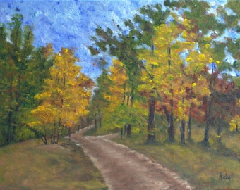 Fork in the Path - Original Oil Painting on 12x16 wrapped canvas