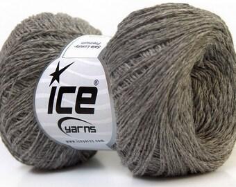 Knitting  yarn, Destash yarn, Grey, light fingering, lace weight, Y222